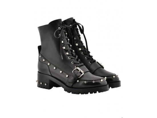 NURSACE Ботинки черная кожа В58601