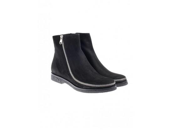 NURSACE Ботинки нубук черный B53885
